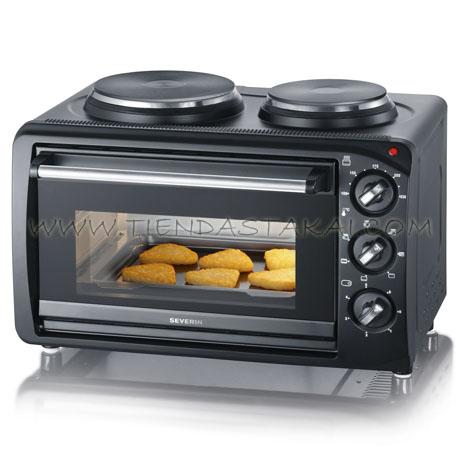 Severin cocina el ctrica 2 hornillas c horno tiendas takai for Cocinas electricas con horno